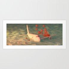 Plane Crash Art Print