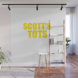 The Office Scott's Tots Light Blue T-Shirt Tee Wall Mural