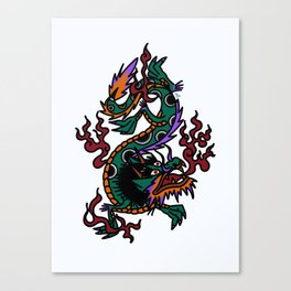Dragon Tattoo Flash Canvas Print