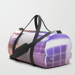 restaurant in the city with the colorful night light bokeh abstract Duffle Bag