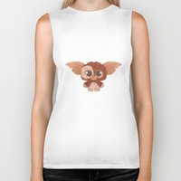 gizmo Biker Tanks featuring Gizmo by Ponchoart