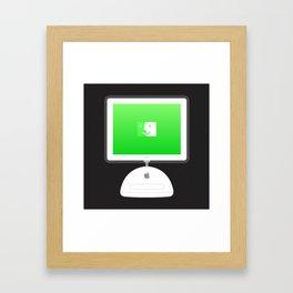iMac (Desk Lamp) Framed Art Print