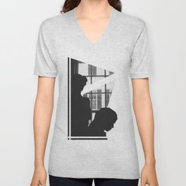 Silhouettes In Window Unisex V-Neck