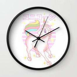 Kawaii Unicorn Wall Clock