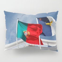 Portugal and Azores flags Pillow Sham