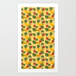 Tropical Broadleaf  Art Print