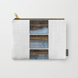 Gone Fishing Triptych White Carry-All Pouch