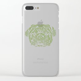 Marijuana of Pug Clear iPhone Case