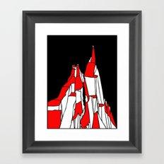 Kazalt Mountain Framed Art Print