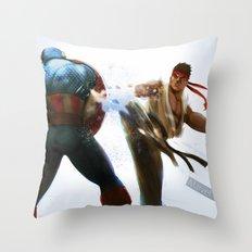Marvel VS Capcom: Captain America VS Ryu Throw Pillow