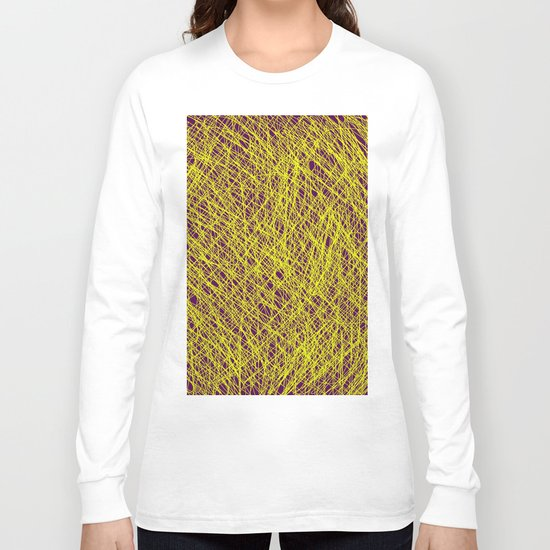 Expressive Yellow (Abstract, purple and yellow) Long Sleeve T-shirt