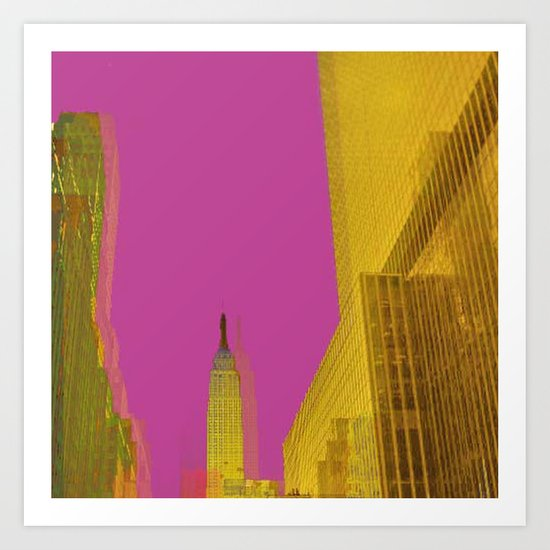 PINK NYC Art Print