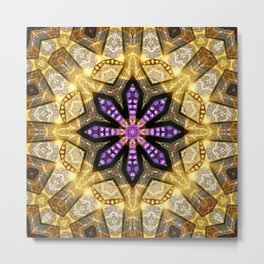 Purple Star Rustica Metal Print