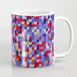 Knitted multicolor pattern 2 Coffee Mug