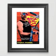 muscle bike  Framed Art Print