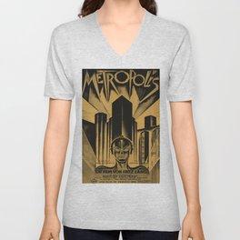 Metropolis, Fritz Lang, 19, vintage movie poster Unisex V-Neck
