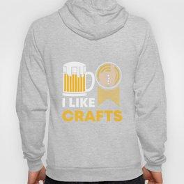 Craft Beer Lover Gift 'I Like Crafts' I Hop I Malt I Lager Hoody