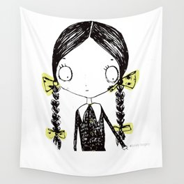 Wednesday Addams Illustrated Wall Tapestry