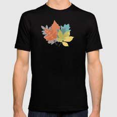 Fall leaves MEDIUM Black Mens Fitted Tee