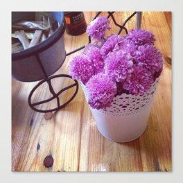 Cafe Flowers Canvas Print
