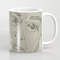 hunter s thompson Mugs featuring Hunter S Thompson by Nicostman