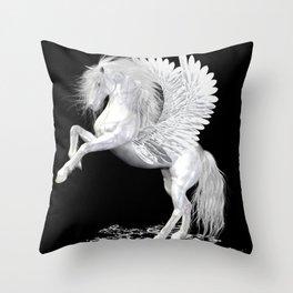 The Pegasus ..  StarFire .. fantasy horse Throw Pillow