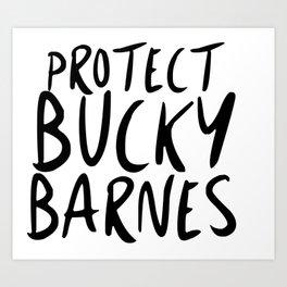 Protect Bucky! Art Print