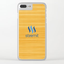 Steemit on Orange Clear iPhone Case