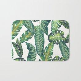 Jungle Leaves, Banana, Monstera II #society6 Bath Mat