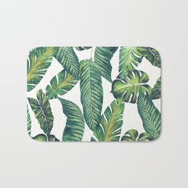 Jungle Leaves, Banana, Monstera II #society6 Bath Mat