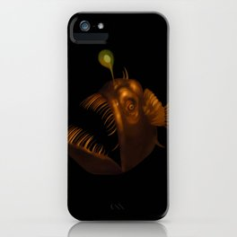 Deep Sea Anglerfish Watercolor iPhone Case