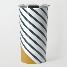 Diagonal Block - Gold/Navy Travel Mug