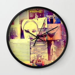 Pulp Fiction by Lika Ramati Wall Clock