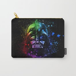 Darth Vader Helmet StarWars Art - Digital Splash Painting Carry-All Pouch