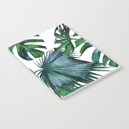 Tropical Palm Leaves Classic Notebook