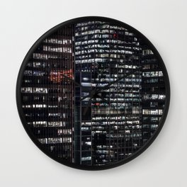 The City never sleeps Wall Clock