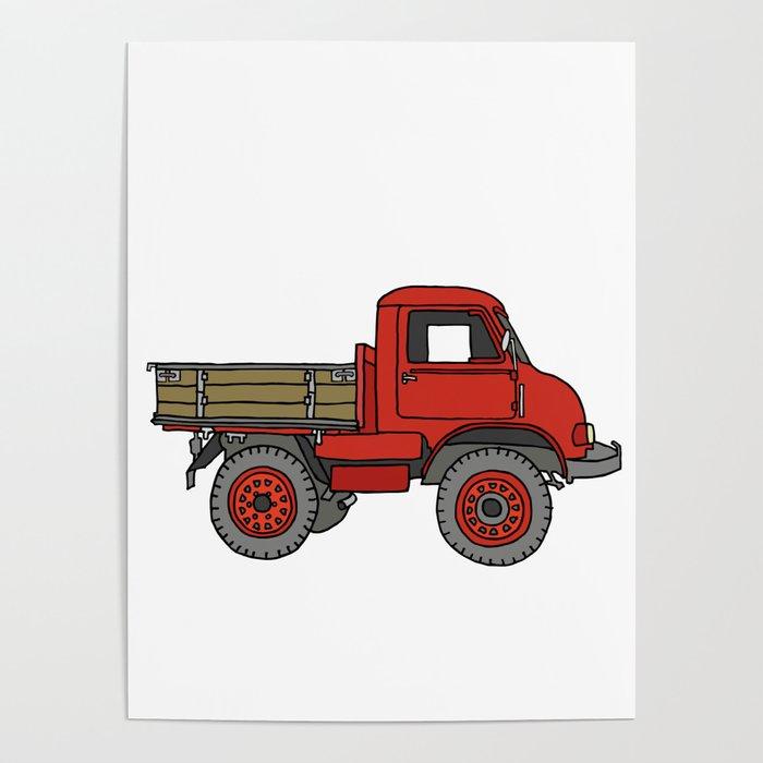 Red truck / transporter Poster