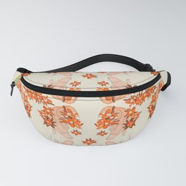Alligator and Camellias Fanny Pack