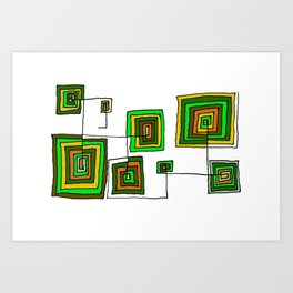 Permanent Line Art Print