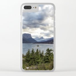 St Mary's Lake and Wild Goose Island Clear iPhone Case