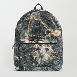 Gray Slate Marble Pattern With Pastel Copper Veins Backpack