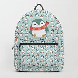 Winter penguins pattern Backpack