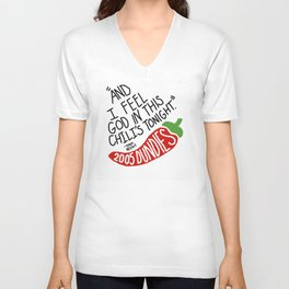 I Feel God in this Chili's Tonight- The Office Unisex V-Neck