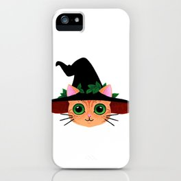Witch hat cat iPhone Case