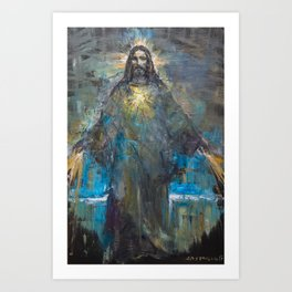 I AM THE LIGHT OF THE WORLD II Art Print