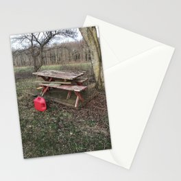 Neglected Picnic Table Stationery Cards