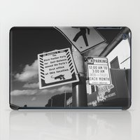 oakland iPad Cases featuring Oakland Black Panther by KING CHRISTOPHER