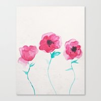 asian Canvas Prints featuring Asian Poppies by DuckyB