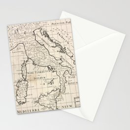 Vintage Map of Italy (1700) Stationery Cards