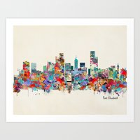 south africa Art Prints featuring Port Elizabeth south africa by bri.buckley